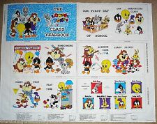 Looney Tunes Lovables Class Yearbook Fabric Panel Baby Book Warner Bros 1994