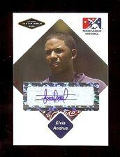 ELVIS ANDRUS Texas Rangers 2005 Certified AUTOGRAPH Baseball Card RC