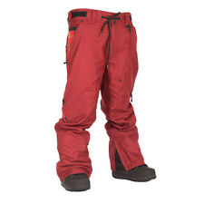 New 2015 Technine Mens Utility Shell Snowboard Pant Large Burgundy