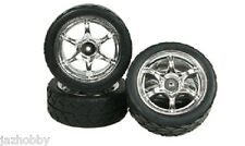 3Racing WH-07/SI 6-Spoke Wheel & Tires (Silver,4pcs) For Tamiya RC GT-01 Chassis