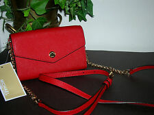 Michael Kors Red Leather Clutch Wallet/Cross Body Phone Bag/Purse new Kors Bag