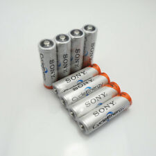 8Pcs Original New NI-MH AA HR6 2A Rechargeable Batteries 1.2V 4600mAh For SONY