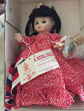 "10"" Royal House of Doll-Mary Jane-native Hawaiin  dress and flag included NIB"
