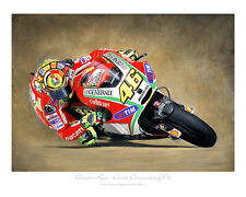 Valentino Rossi - 2012- MotoGP Motorcycle Racing Print Artwork by Steve Dunn