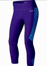 Oakley Women's Printed Strength Capri Size M Royal Purple 521507P