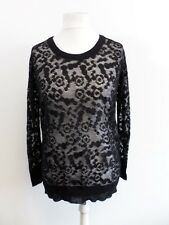 See By Chloe Black Mesh Oversized Jumper Size 40 (UK 8) Box4415 T
