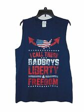 AMERICA GUN SHOW FREEDOM AND LIBERTY MUSCLE T-SHIRT SIZE MEDIUM NWOT