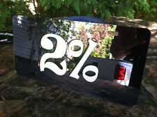 2% SMOKE MIRROR ACRYLIC TAG LICENSE PLATE DECAL STICKER CARGO STREET VAN VANNER
