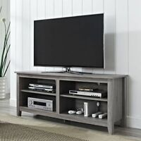 Rustic TV Stand Driftwood Entertainment Center Reclaimed Wood Media Storage Gray