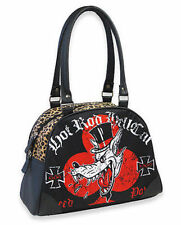 Liquor Brand Hot Rod Hellcat Red Baron Wolf Drag Racing Tattoo Biker Bowling Bag