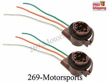 2pcs 3157 4157 Type Socket LED Bulbs Turn Signal Brake Tail Light Wire Harness