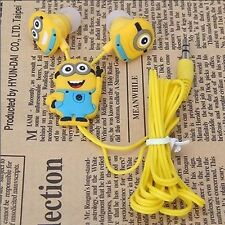 Hot lovely Despicable Me Minions Style 3.5 mm In-ear Headphones Earphones