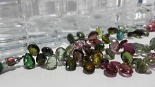 Tourmaline Multi Color Faceted Flat Drop Beads 9 In. Strand BnC Jewelry
