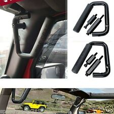Black Front Grab Bar Handles For 2007-2016 Jeep Wrangler JK New Free Shipping