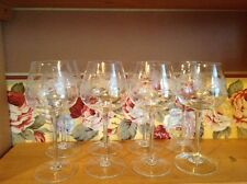 8 beautiful etched crystal 8 oz wine sherry glasses stemware