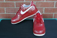 Women's Size 7.5  NIKE Air Force 1 Low Premium Basketball Red/Metallic Shoes