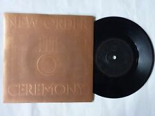 "NEW ORDER CEREMONY UK 7"" EMBOSSED P/S FACTORY FAC33 1981 JOY DIVISION NEW WAVE"