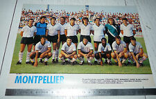 CLIPPING POSTER FOOTBALL 1987-1988 MONTPELLIER HERAULT MHSC LA PAILLADE MOSSON