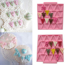 Chic New Letter Flag Lace Silicone Mold Cake Decorating Baking Chocolate Mould