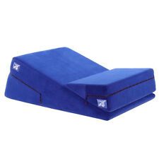 Liberator Wedge Ramp Combo Bedroom Sexual Position Aid - Blue Microfiber