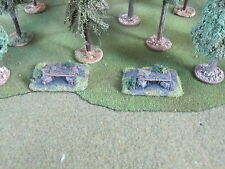 Flames of war / ww2  -  2 MG Nests 15mm - well painted