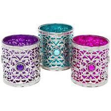 Set Of 3 Beautiful Moroccan Tea Light Candle Holders Lanterns Morocco Ornaments