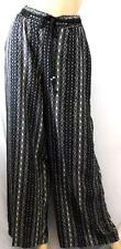 MAURICES BLACK TRIBAL PULL ON PALAZZO PANTS WOMEN'S PLUS SIZE 1, 1X