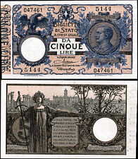 Biglietto di Stato da 5 Lire 10/9/1923 Maltese - Rossolini quasi FDS