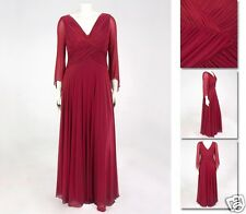 NEW Zaftique PRIMA DONNA Evening Dress Gown GARNET Red 0Z 2Z / 14 16 L XL 1X 2X