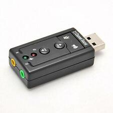 Mini USB 2.0 3D Virtual 480Mbps External 7.P Channel Audio Sound Card Adapter NP