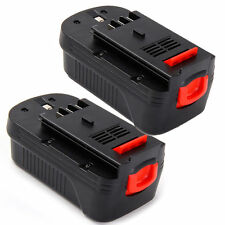 2x 18V 2000mAh Slide Battery for Black & Decker HPB18-OPE 244760-00 A1718 FS18BX