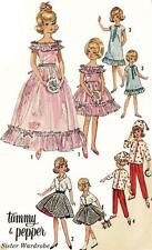 Vintage Doll Clothes PATTERN 5771 for 12 in Tammy Pepper by Ideal