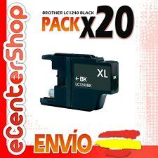 20 Cartuchos de Tinta Negra LC1240 NON-OEM Brother MFC-J835DW / MFCJ835DW