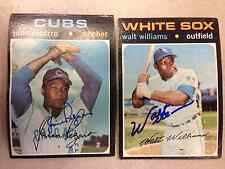 Walt Williams #555 autograph auto 1971 Topps Baseball Card with COA