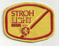 Vintage Stroh Light Beer Uniform Patch - Detroit, MI