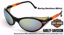 Harley Davidson Gold Lens Sunglasses Riding Biker Motorcycle Sun Glasses HD301