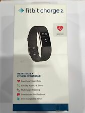 New OEM Fitbit Charge 2 Black Large Heart Rate and Activity Fitness Wristband