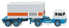 """WIKING 052601 1:87 Containersattelzug (Henschel) """"HENSCHEL FRUEHAUF"""" NEU"""