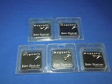 Lot of 5 Magnetic Body Jewelry - Butterfly, Gecko, Dolphin, Turtle & Feet Design