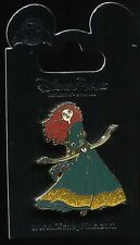 Brave Princess Merida with Bow and Arrow Glitter Dress Disney Pin