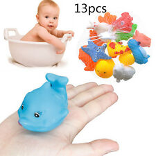 13PCS Squeaky Baby Bath Toys Floating Water Rubber Animal Children Kids Cute Toy