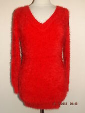 NEW LADIES SOFT FLUFFY FURRY STRETCHY BODYCON MOHAIR JUMPER DRESS ONE SIZE 8-16