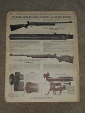 1940 Vickers Jubilee & Olympic .22 Match Rifles Price List AD Catalog Page