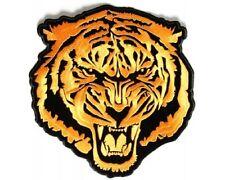 "(J) Small Orange BARON TIGER 3.75"" x 4"" iron on patch (3524) Vest Cap"