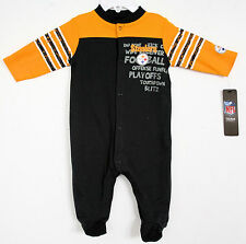 PITTSBURGH STEELERS NFL Sleep & Play Creeper Sleeper Playsuit footed 3/6m NEW