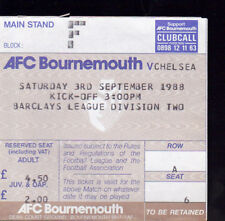 1988/89 BOURNEMOUTH V CHELSEA 03-09-1988 Division 2 Match Ticket