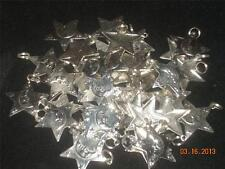 Wholesale Lot # 416 Pewter Star Moon Charm Pendant Earring Key Chain Craft Items