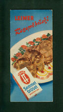 Leimer Rezeptbüchl Semmelbrösel Rezepte zum Kochen u. Backen Traunstein 1960