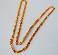 22k Carat  gold plated chain necklace INDIAN fashion JEWELRY U29  28 in
