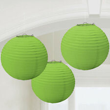 KIWI LIME GREEN PAPER LANTERNS (3) ~ Baby Shower Wedding Birthday Party Supplies